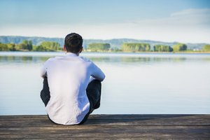 An isolated person thinking about life in recovery.