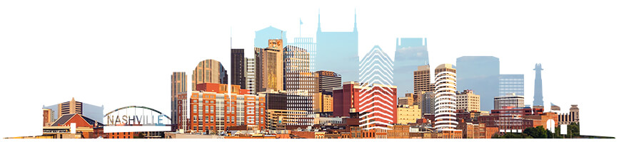 Graphic of Nashville city.