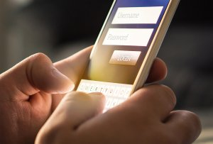 A person using social media on their mobile device.